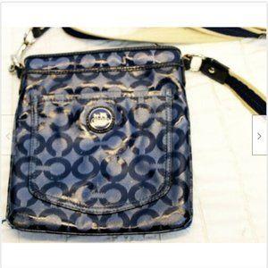 Coach Blue Purse Cross Body Authentic Hand Bag 432